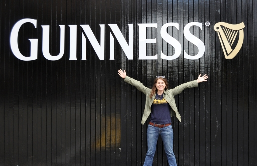 Jessica at the Guinness Factory