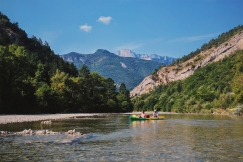 Kayaking in the Rhone River in France